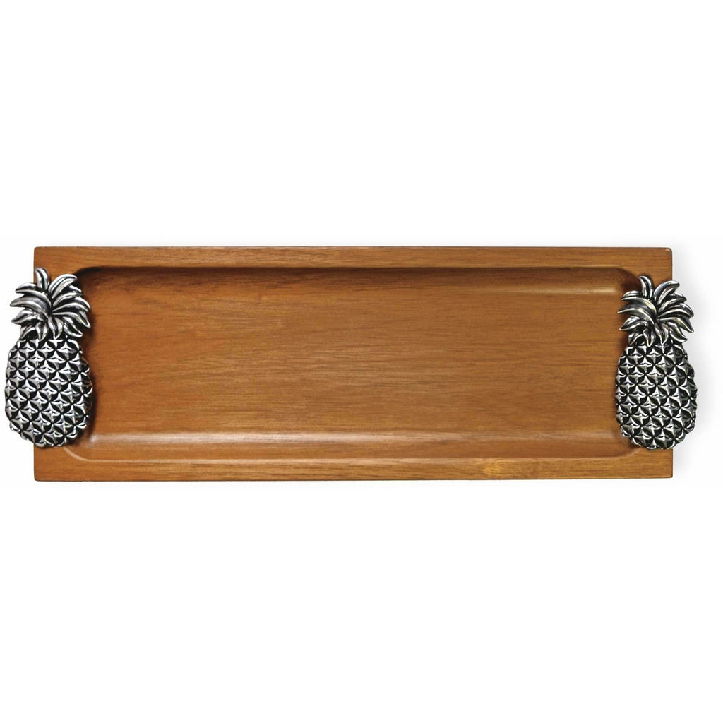 Pineapple Wood Serving Tray,tray,Adley & Company Inc.