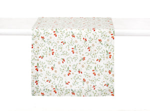 Hariette Floral Rosehip Table Runner,table runner,Adley & Company Inc.