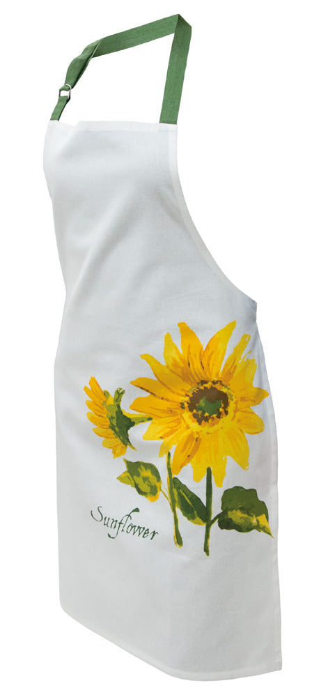 Sunflower Cotton Full Apron,apron,Adley & Company Inc.