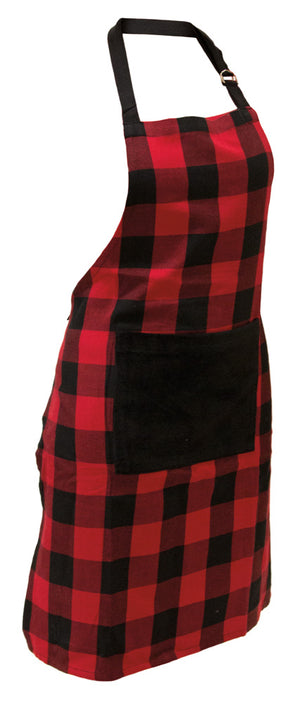 Buffalo Plaid Cotton Full Apron,apron,Adley & Company Inc.