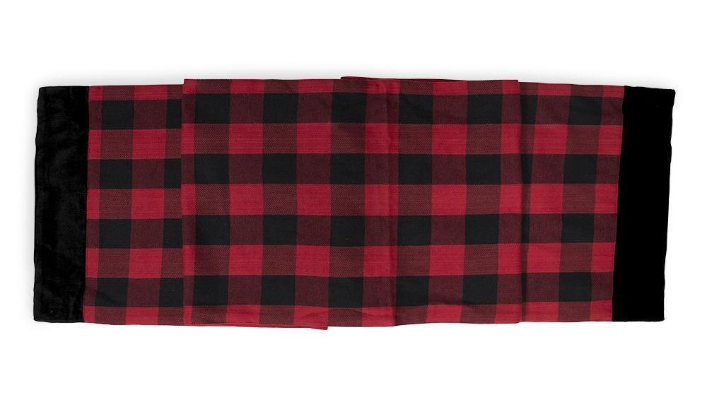 Red & Black Plaid Table Runner