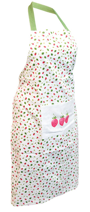 Strawberry Season Cotton Full Apron,apron,Adley & Company Inc.
