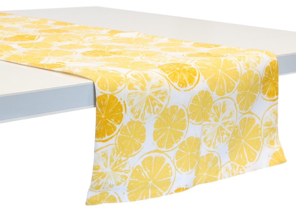 Lemon Bar Cotton Table Runner
