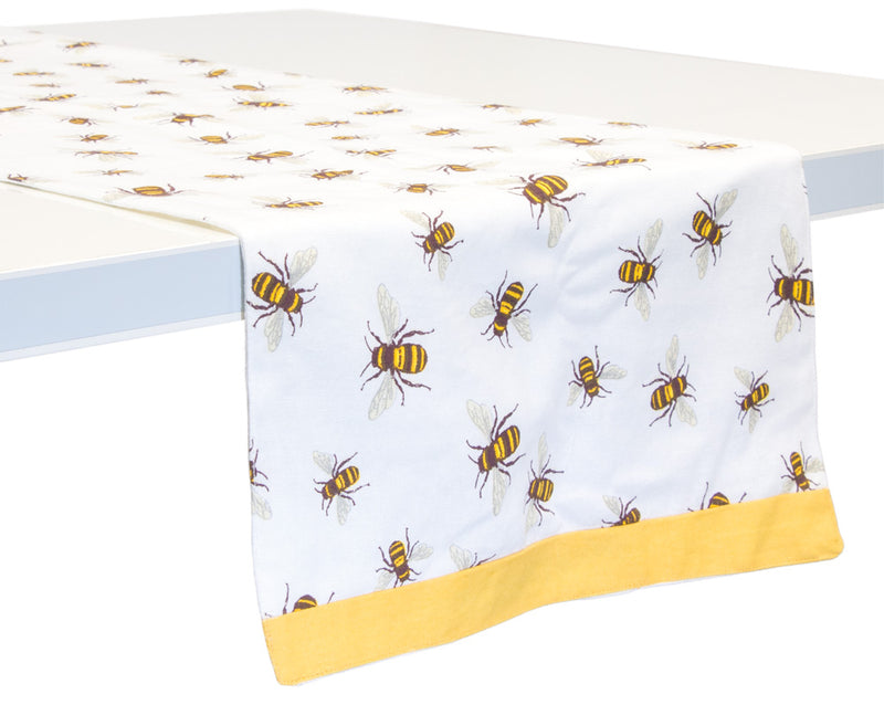 Save The Bees Cotton Table Runner