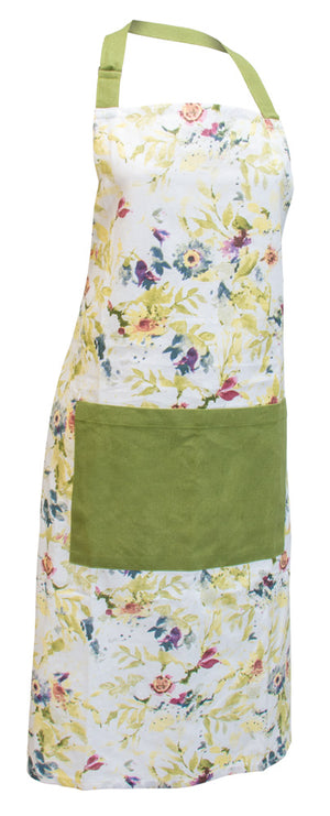 Packed Flowers Cotton Apron,apron,Adley & Company Inc.