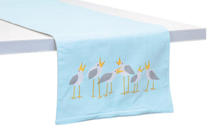 Seagulls Cotton Table Runner,table runner,Adley & Company Inc.