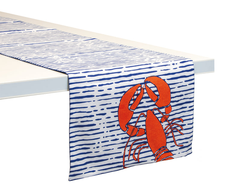 Lobster Cotton Table Runner,table runner,Adley & Company Inc.