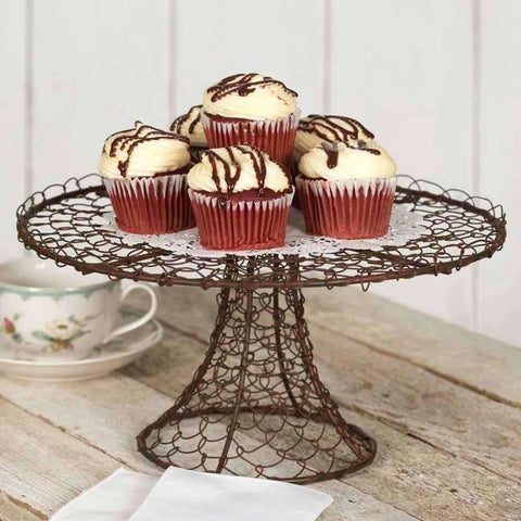 Shabby Chic Metal Wire Dessert Cake Stand Display