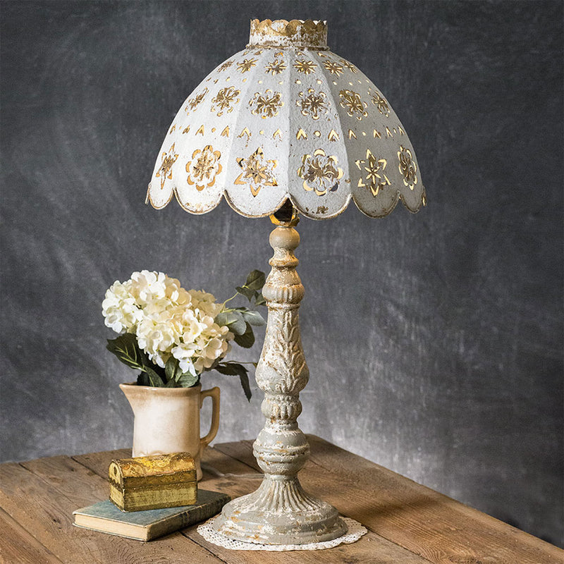 Belle Pierced Metal Shade Table Lamp - Adley & Company Inc.