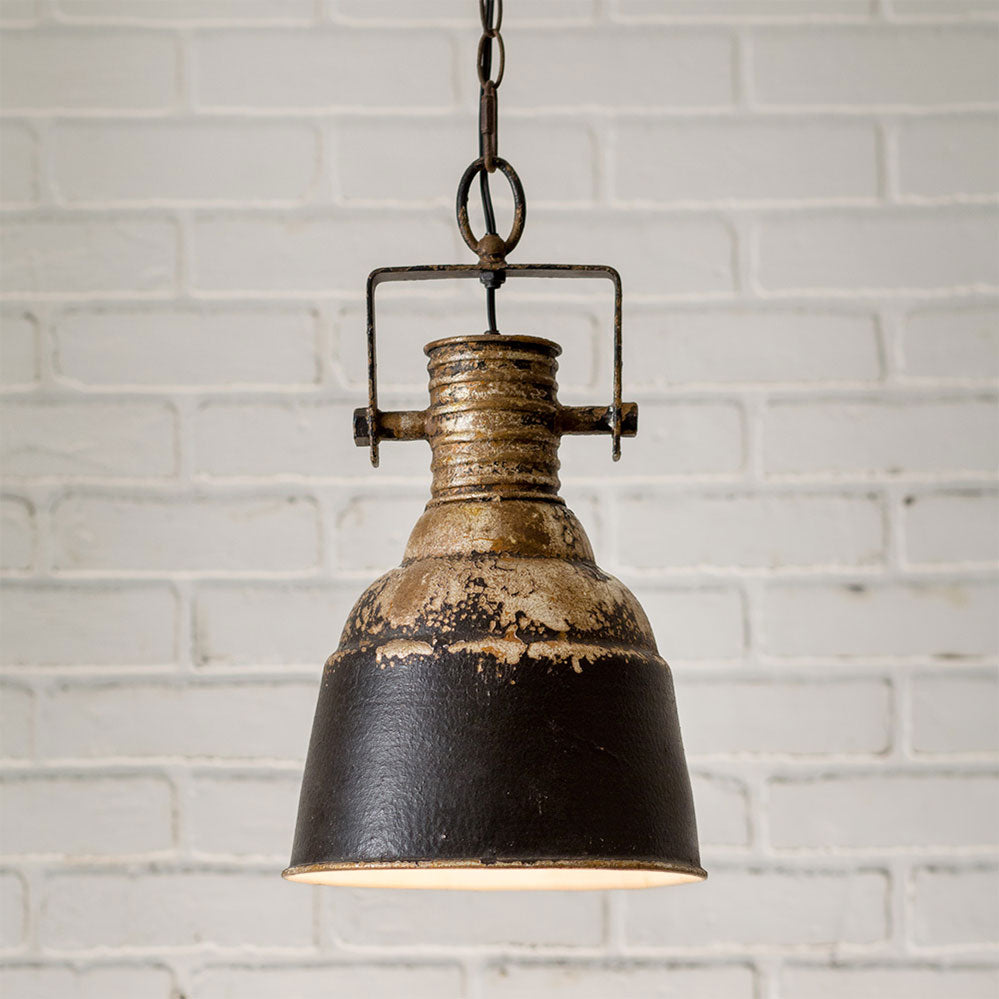 Weathered Metal Industrial Pendant Light