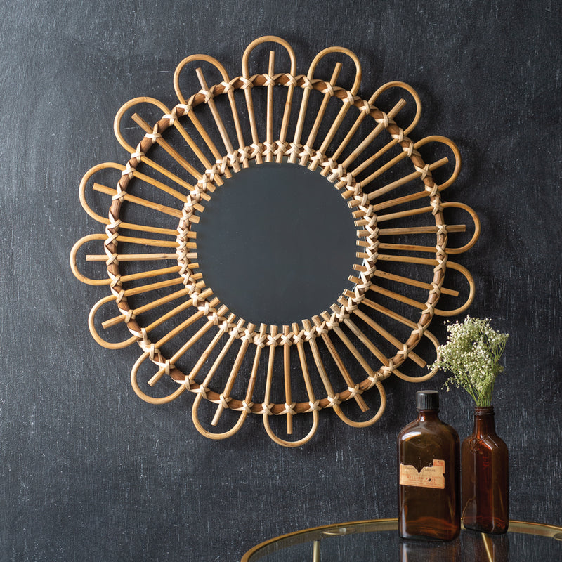 Coastal Rattan Wall Mirror,mirror,Adley & Company Inc.