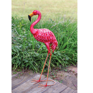 Pink Flamingo Iron Garden Decor
