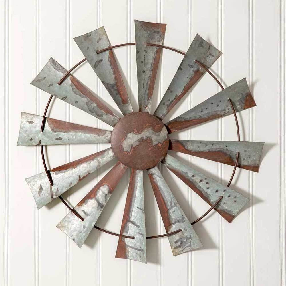 Windmill Metal Rustic Wall Decor,WINDMILL,Adley & Company Inc.
