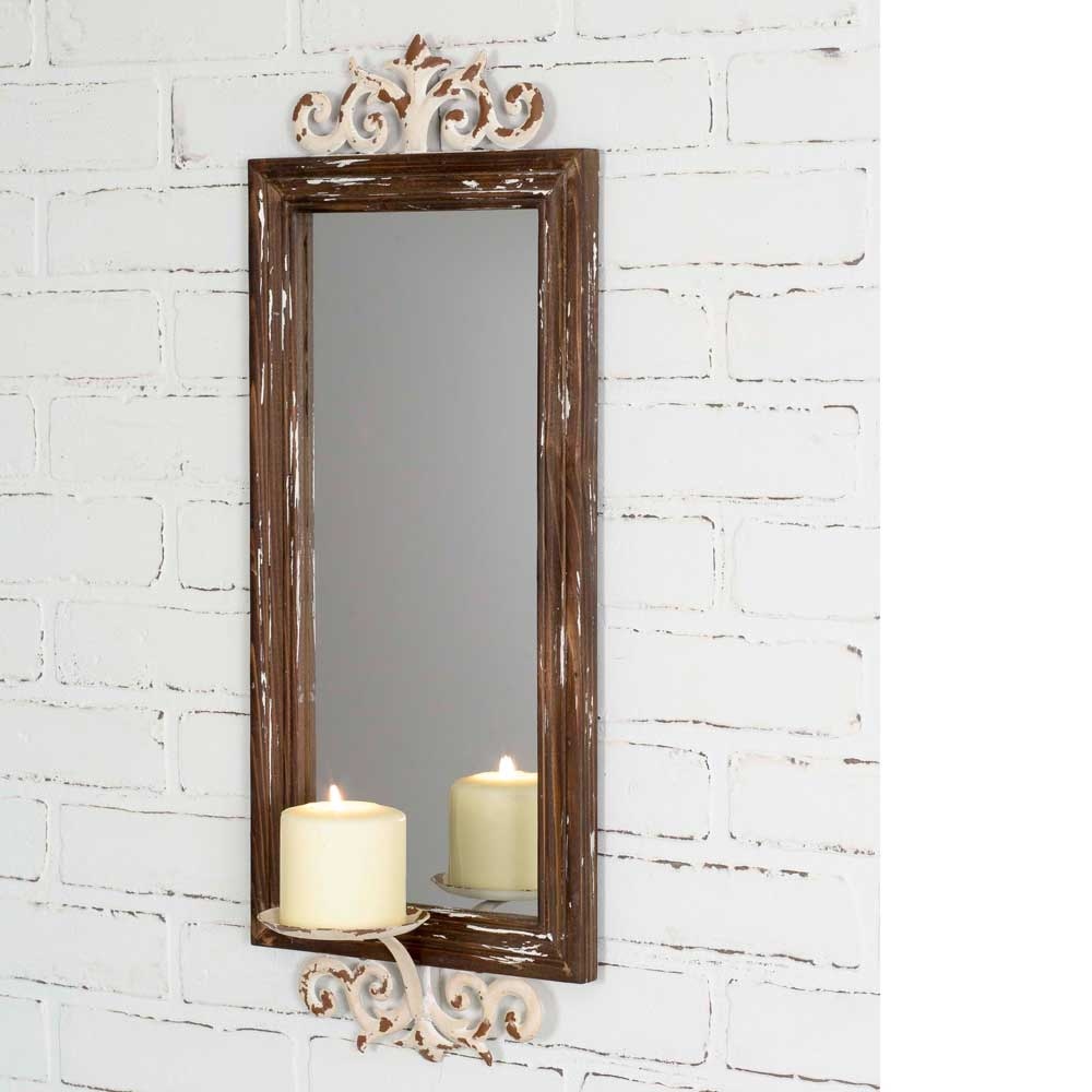 Mirror Pillar Candle Sconce,wall sconce,Adley & Company Inc.