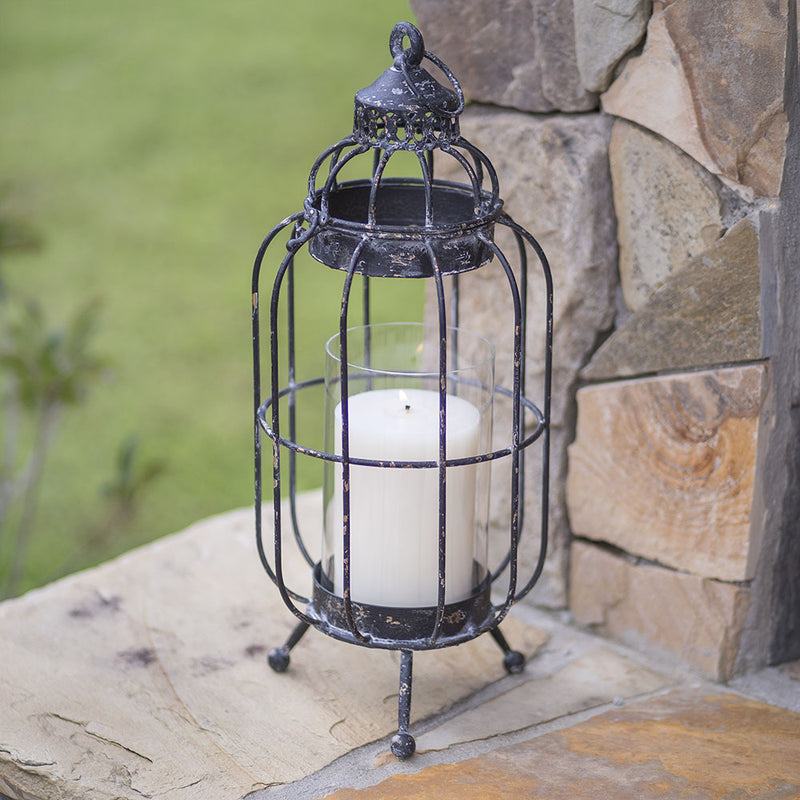 New Bern Pillar Candle Lantern