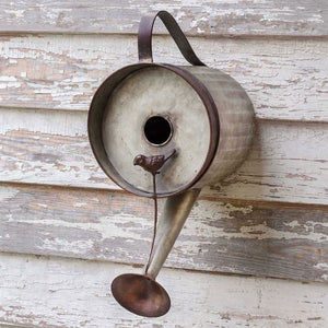 Metal Watering Can Bird House,birdhouse,Adley & Company Inc.