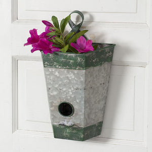 Galvanized Metal Birdhouse,bird house,Adley & Company Inc.