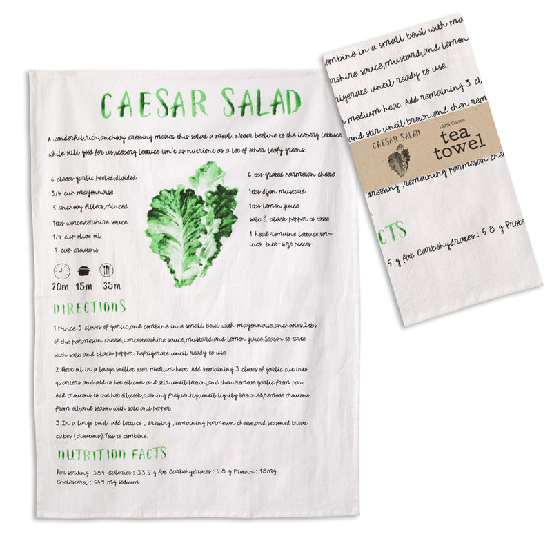 Caesar Salad Dish Towels, Set of 4,tea towel,Adley & Company Inc.