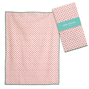 Coral Color Tea Towels, Set of 4,tea towel,Adley & Company Inc.