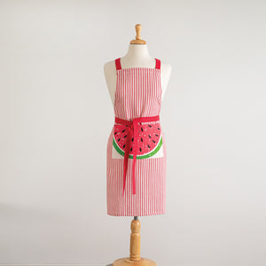 Summer Watermelon Striped Cotton Full Apron,apron,Adley & Company Inc.
