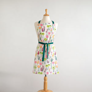 Spring Floral Cotton Full Apron,apron,Adley & Company Inc.
