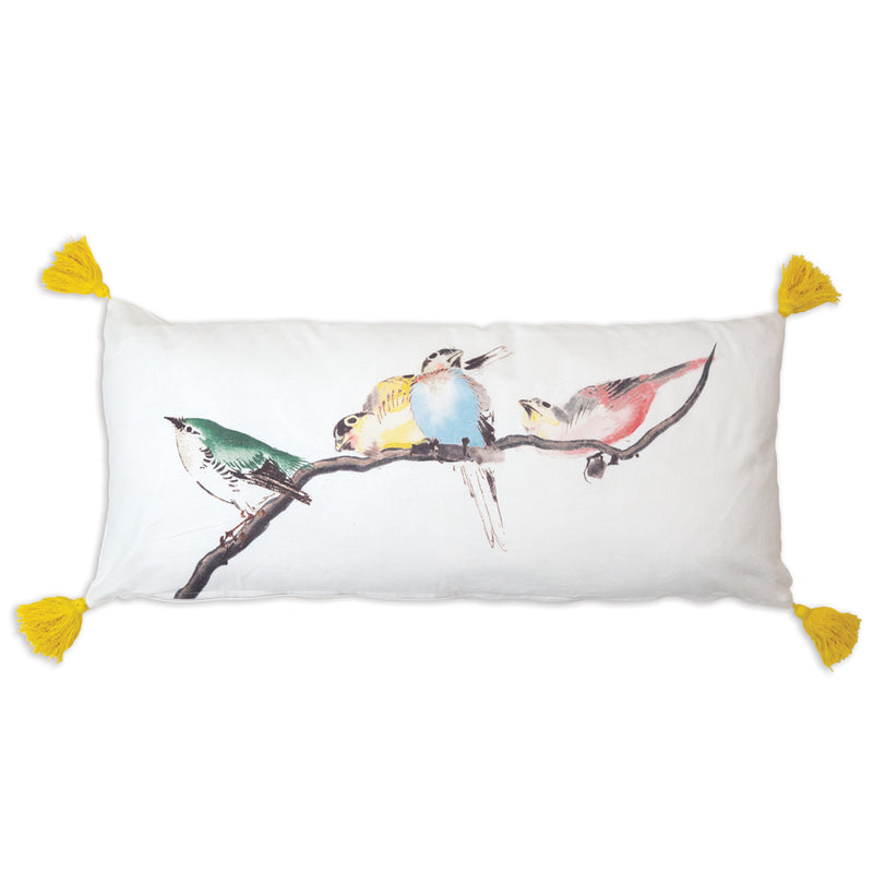 Birds on a Branch Lumbar Pillow