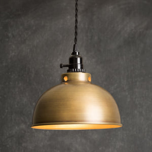 Antique Brass Dome Pendant Lamp,pendant light,Adley & Company Inc.