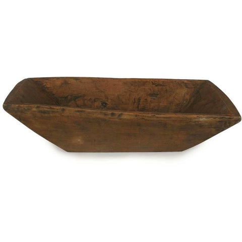 Brown Rectangle Wood Trench Bowl
