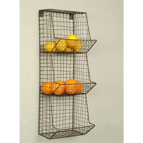 Vertical Wire Basket Wall Storage - Adley & Company storage bin, Adley & Company Inc., Adley & Company Inc.
