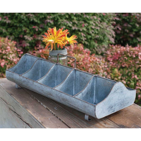 Galvanised Metal Long Party Caddy, Trough
