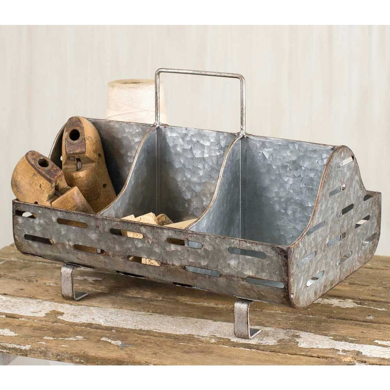 Party Time Metal Caddy Trough,storage bin,Adley & Company Inc.