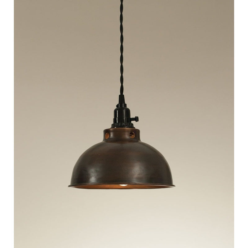 Industrial Style Domed Pendant Lamp,pendant light,Adley & Company Inc.