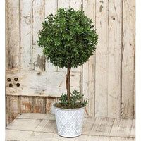 New England Boxwood Faux Topiary