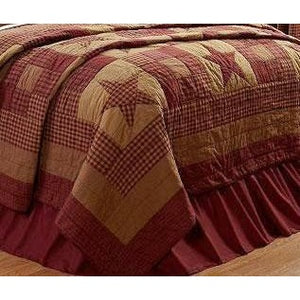 Star Burgundy Quilted Throw Blanket,throw blanket,Adley & Company Inc.
