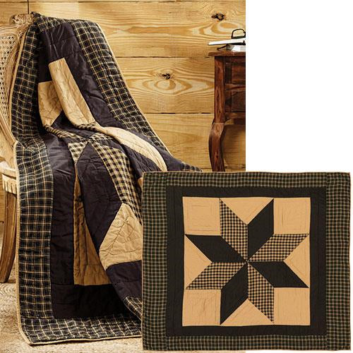 Dakota Star Quilted Throw Blanket,throw blanket,Adley & Company Inc.