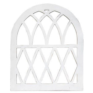 Painted Wood Arched Wall Decor,wall decor,Adley & Company Inc.