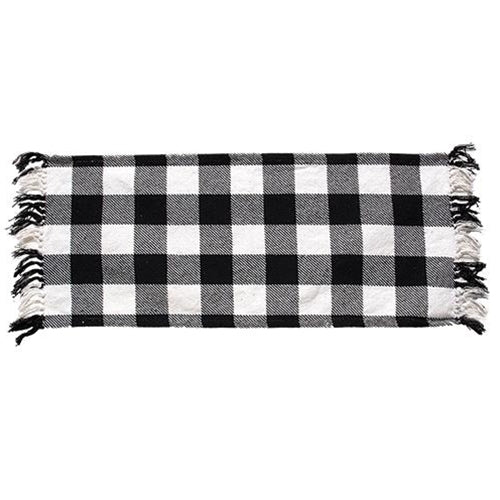 Black and White Plaid Check Table Runner,table runner,Adley & Company Inc.