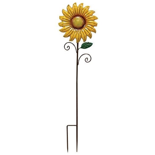 Metal Sunflower Decorative Garden Stake, Set of 2,garden stake,Adley & Company