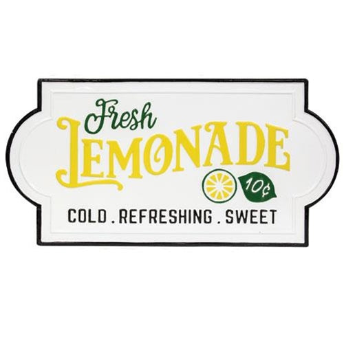 Fresh Lemonade Wall Tin Sign