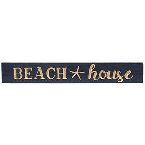 Navy Blue Beach House Wall Sign
