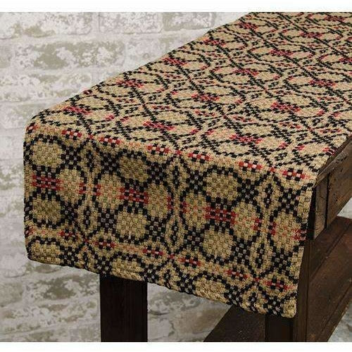 Patriot's Knot Woven Table Runner,table runner,Adley & Company Inc.