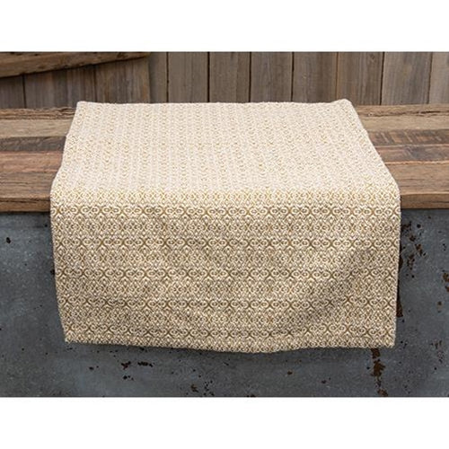 Fairfax Mustard Cream Cotton Table Runner