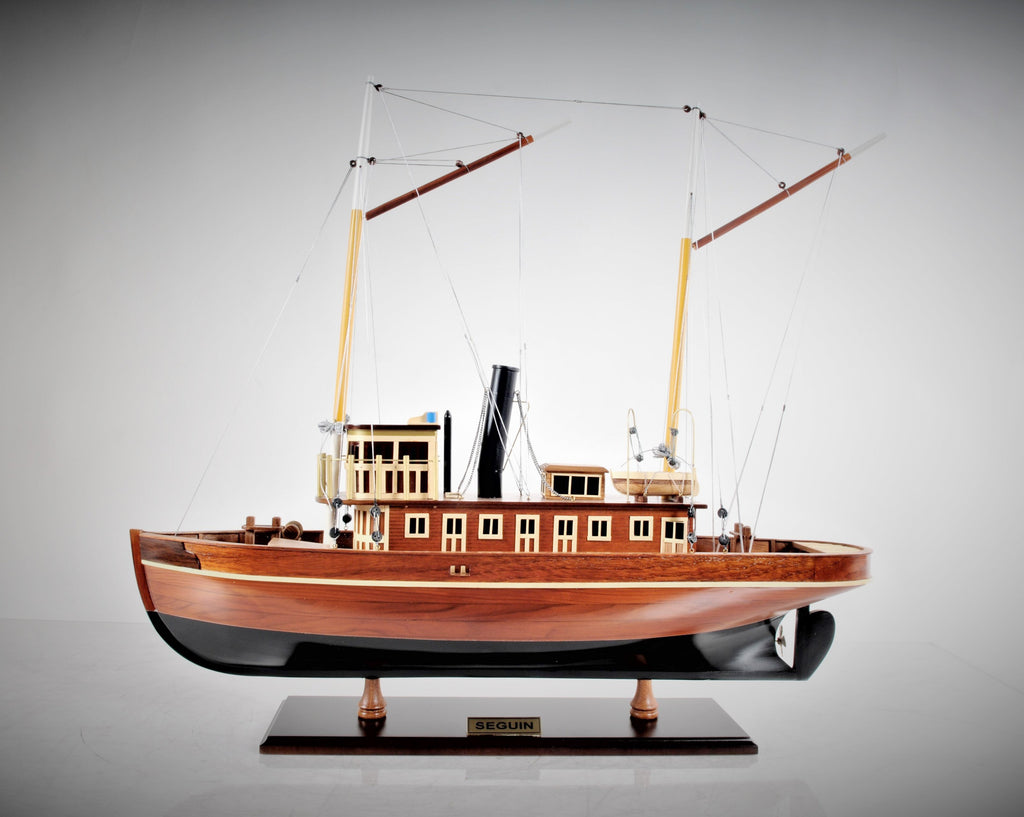 Hand Crafted Seguin Tugboat Model Boat