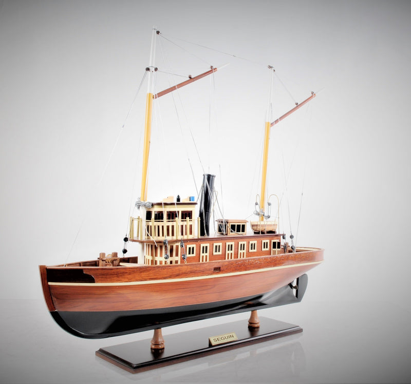 Hand Crafted Seguin Tugboat Model Boat,model boat,Adley & Company Inc.