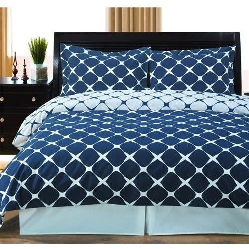 Navy Blue and White Duvet Cover Set,bedding set,Adley & Company Inc.
