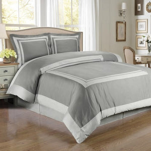 Soft Grey Cotton Duvet Cover Set,bedding set,Adley & Company Inc.
