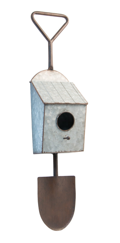 Metal Shovel Birdhouse,bird house,Adley & Company Inc.