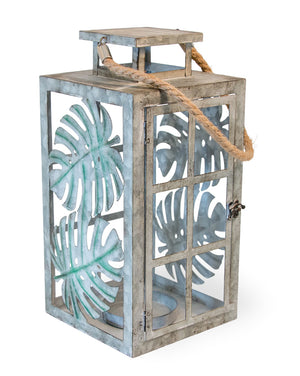 Palm Leaf Candle Lantern,candle lantern,Adley & Company Inc.