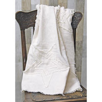 Burlap Cotton Antique White Throw Blanket,throw blanket,Adley & Company Inc.