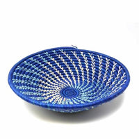 Fair Trade Hand Woven Blue Sisal Basket,basket,Adley & Company Inc.
